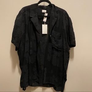 Wilfred Atticus Button-Up - Black - NWT